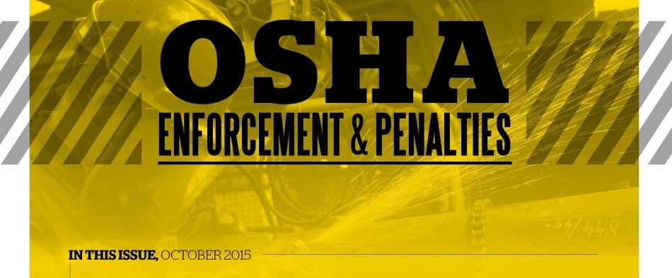 OSHA Enforcement and Penalties Newsletter – October 2015